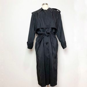 Vintage Forecaster Black Trench Coat